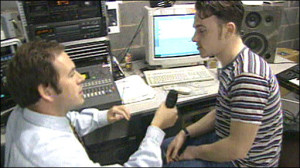 Craig Conner podczas udzielania wywiadu dla BBC