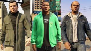Trzei bohaterowie gry wich różnorodnych ubiorach
