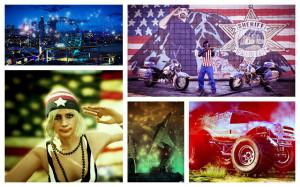 Zdjęcia Snapmatic, które przedstawiają elementy dodatku niepodległościowego (selekcja - Rockstar Games).