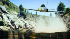 Obniżony lot nadpotokiem Cassidy idelikatnie podnosząca wodę Besra